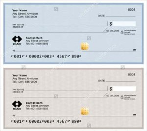 blank business check template blank bank checks isolated on white background min