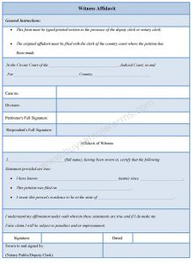 blank check template pdf witness affidavit form