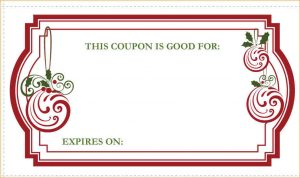Blank Coupon Template Free Christmas Coupon Template Christmas Coupons Image  Free Christmas Voucher Template