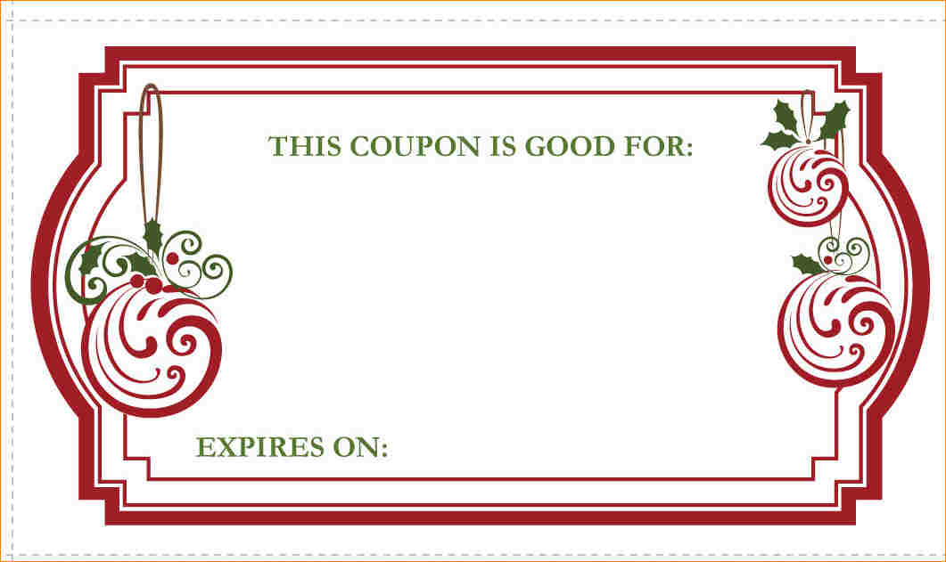 Blank Coupon Template Free  Template Business