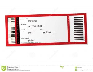 blank coupon template free concert event ticket