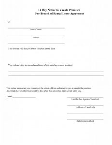 blank eviction notice blank day eviction notice form for breach of agreement x