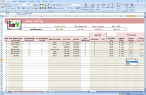 blank excel spreadsheet ebay profit and loss spreadsheet