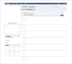 blank facebook page blank facebook page template word doc download