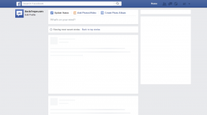 blank facebook page facebook down blank profile