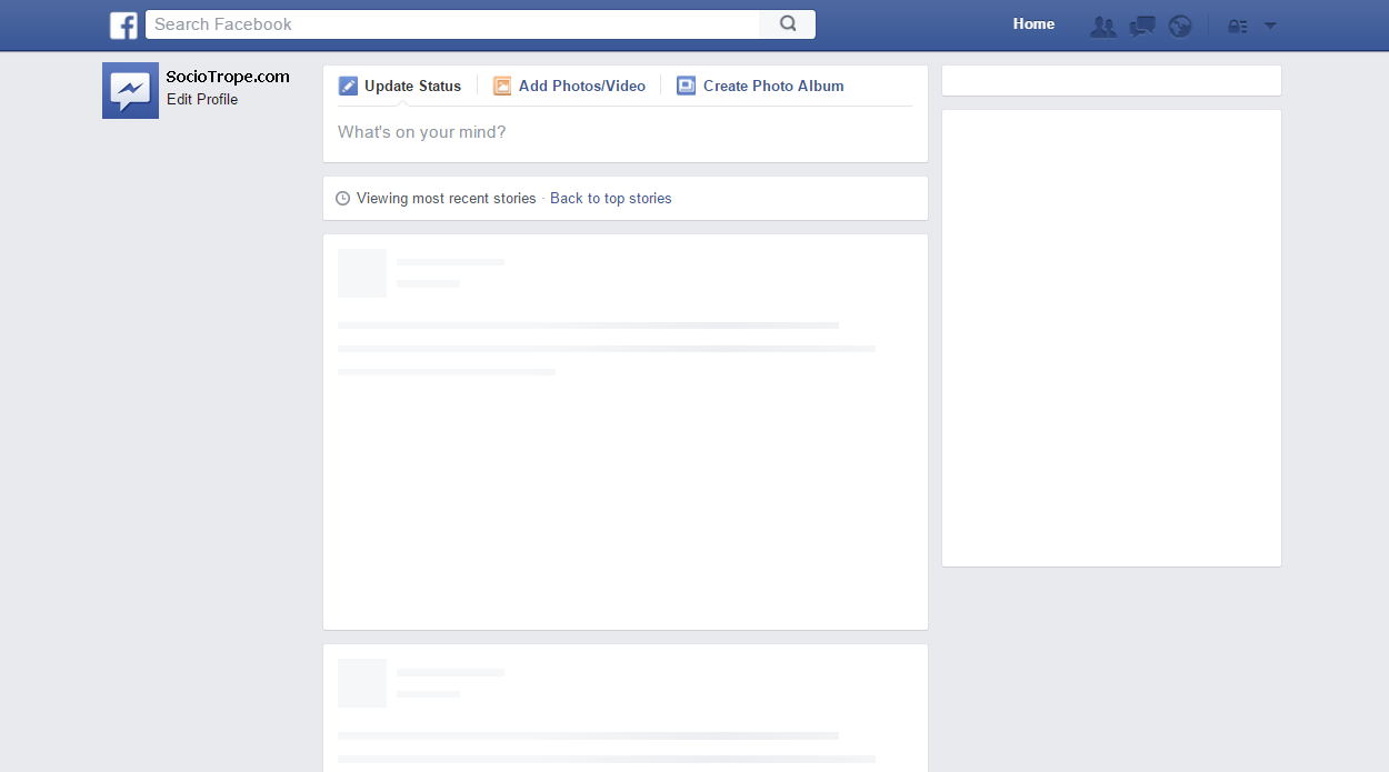 blank facebook page