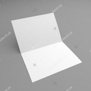 blank flyer templates blank folded card mockup