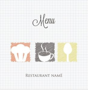 blank flyer templates menu cover