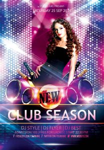 blank flyer templates new club psd flyer template