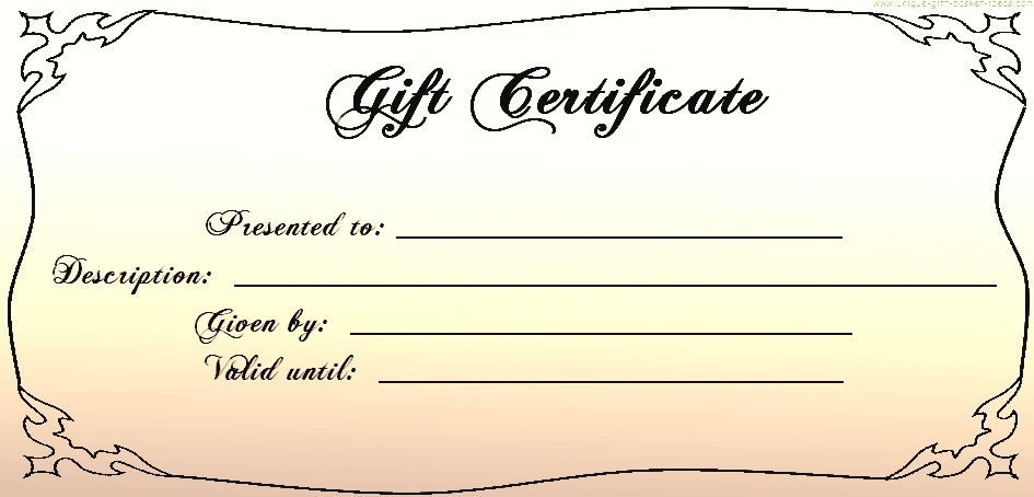 Blank gift certificate template business blank gift certificate yelopaper Choice Image