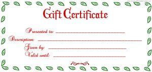 blank gift certificate blank gift certificate