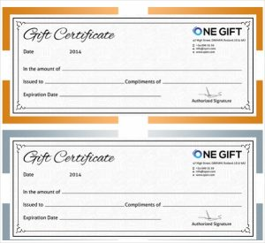 blank gift certificate free blank gift certificate template