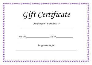 blank gift certificate gift certificate template blank