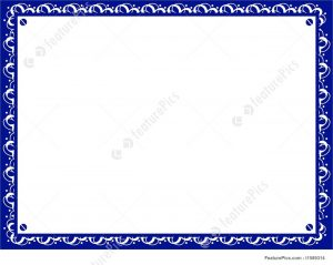 blank invitation templates templates certificate border stock illustration i at with certificate border template blue