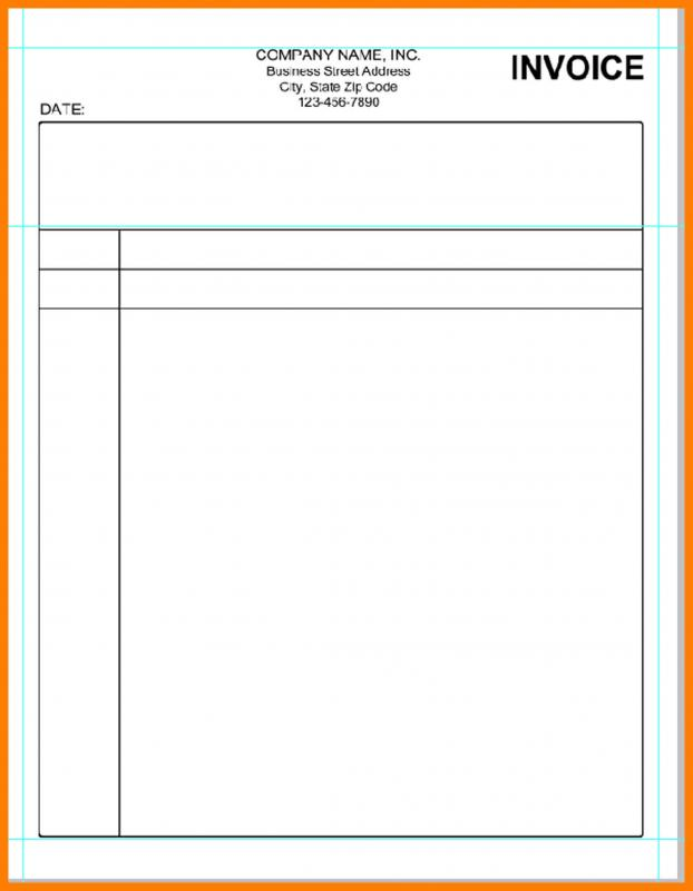 Blank Invoice Template Template Business - Easy invoice template