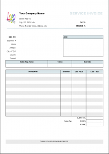 blank invoice template service invoice template printed