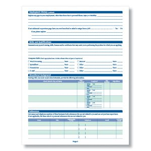 blank job application a application for employment long xl