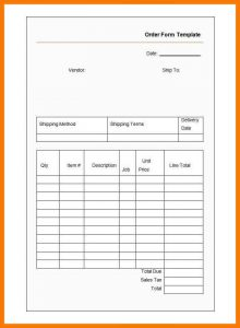 blank job application pdf blank order form template sample order form template