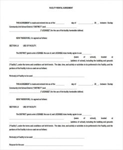 blank lease agreement doc format facility blank rental agreement download for free