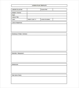 blank lesson plan template lesson plan format template in ms word