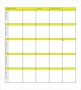 blank lesson plan template simple blank lesson plan template