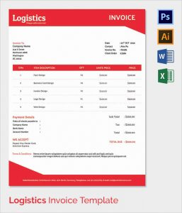 blank logo templates logistics invoice template