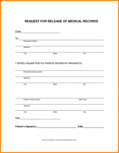 blank medical records release form blank medical records release form - Medical Records Release Form