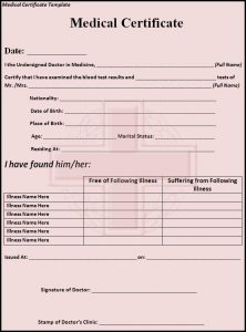 blank medical records release form medical certificate template