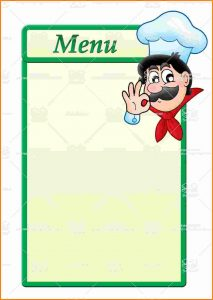 blank menu template template business