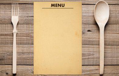blank menu template simple blank menu template