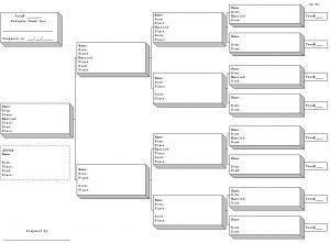 blank pedigree chart pedchart