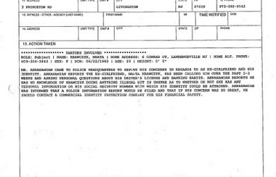 blank police report bignote