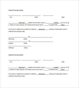 blank promissory note form blank promissory note word