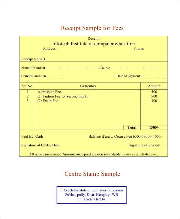 blank receipt template