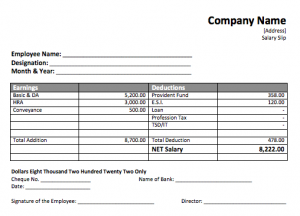 blank receipt template uncategorized interesting payslip template sample with blank filled space and earnings and deductions in table format