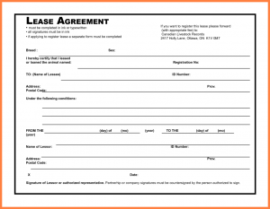 Blank rental agreement template business for Software subscription agreement template