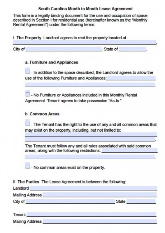 Blank Rental Agreement  Template Business