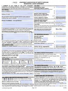 blank rental application north carolina apartment association residential lease agreement x