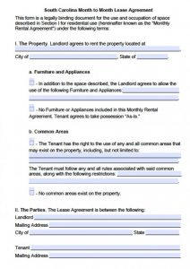 blank rental application south carolina month to month lease agreement x