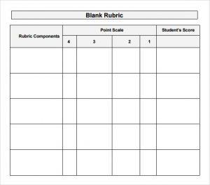 blank rubric template free blank rubric template