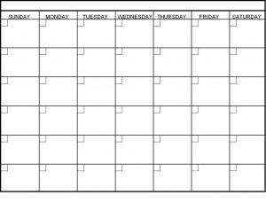 blank schedule template blank calendar template e