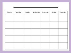 blank schedule template blank monthly calendar template