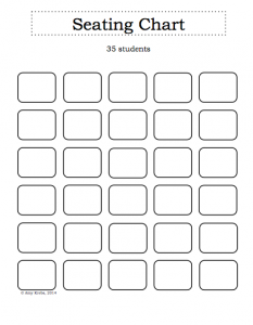 blank seating chart blank classroom seating chart template