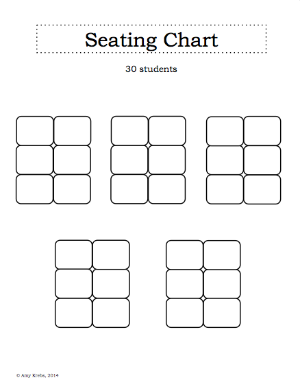 blank seating chart