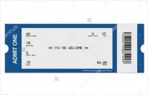 blank ticket template blank ticket template free psd vector eps ai word format