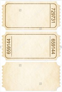blank ticket template paper blank ticket