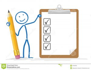 blank time sheet stickman pencil clipboard checklist white