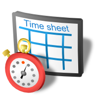 blank time sheet timesheet icon
