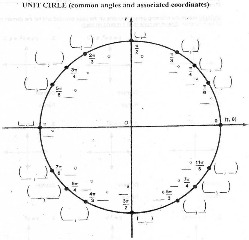 photograph about Blank Unit Circle Printable titled Blank Product Circle Pdf Template Place of work