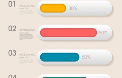 blank website templates infographic progress bar vector
